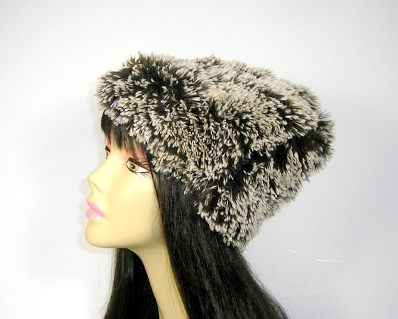 f107a30ee3ba5 CUSTOM SIZE HATS Brown Fur Hat Brown Faux Fur Beanie Faux Fur