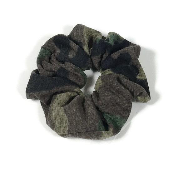 Handmade Green Camouflage Cheveux Scrunchy Bande Cravate Accessoires