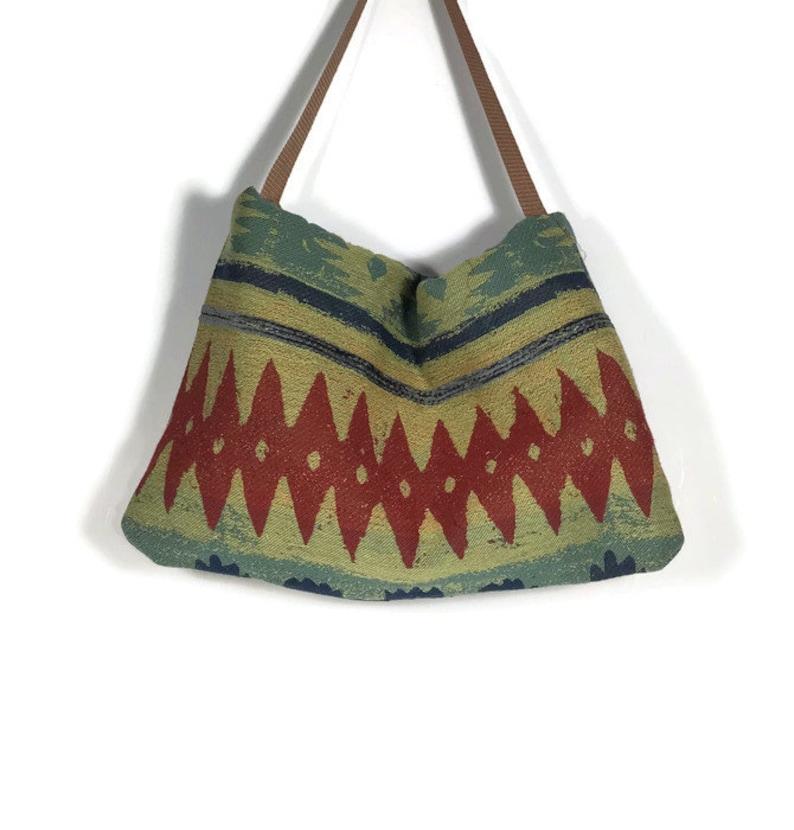 Western Hobo Bag Tribal Print Hobo Purse Aztec Shoulder Bag Western Shoulder Bag Crossbody Western Bag Aztec Print Handbag Western Purses