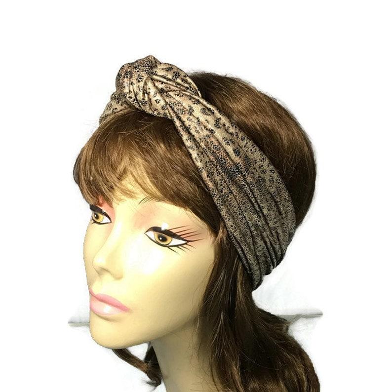 069add95b4 CUSTOM SIZE Animal Print Turban Head Wrap Leopard Turban