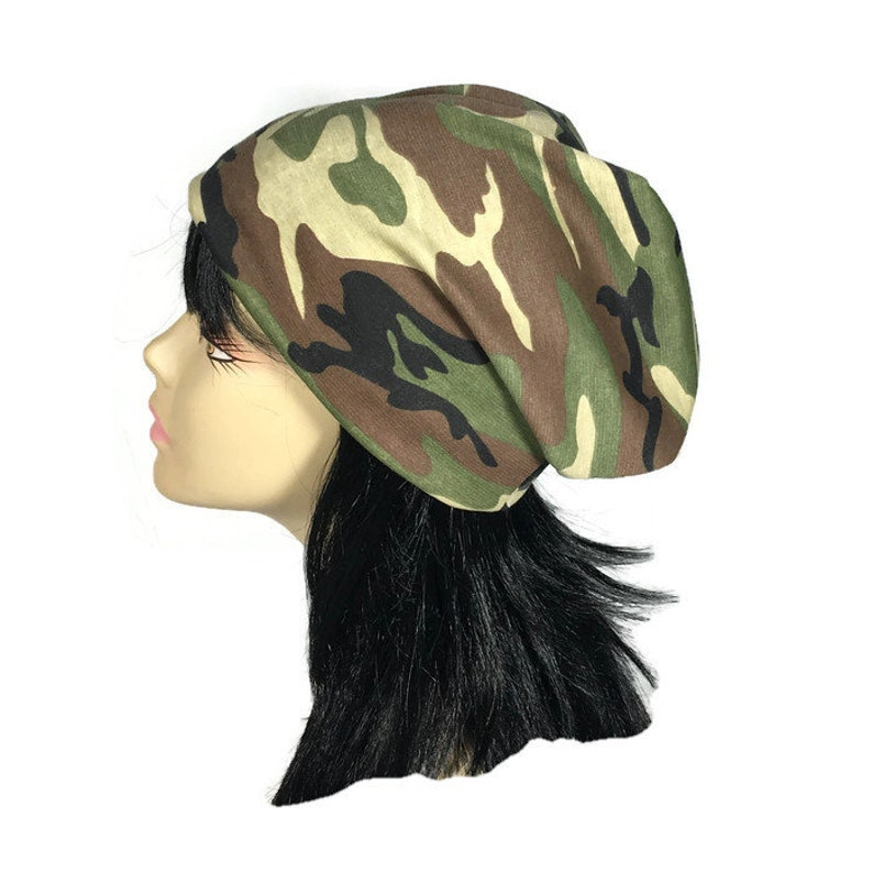 6bb526263 Camouflage Slouchy Beanie All Seasons Green Camo Beanie Men Unisex Camo  Slouchy Hat Camo Beanie Women CUSTOM SIZE/Lining Army Green Camo Hat