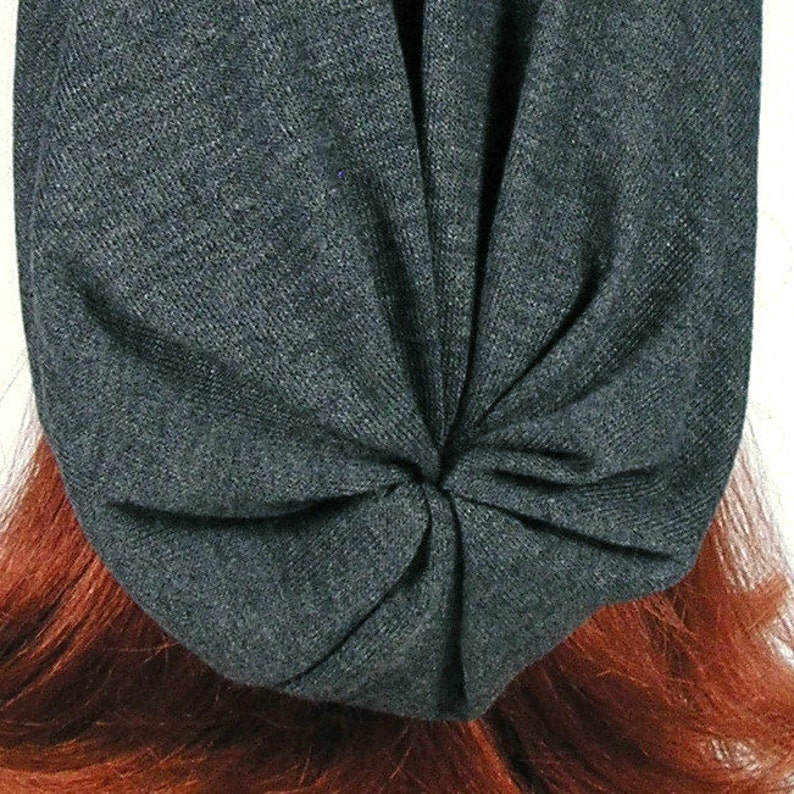 34328141410 Long Slouch Hat Mens Gray Slouch Hat Do Rag Turban Slouchy