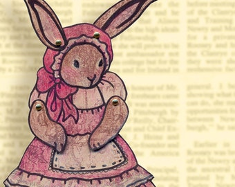 PDF Lady Rabbit Jointed Paper Doll