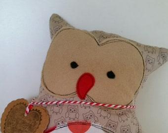 9 inch owl toy plushie softie pillow