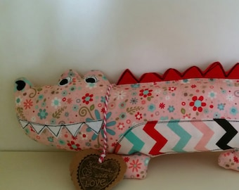 14 inch long not so scary alligator crocodile plushie softie