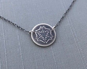 Small Sterling Silver Eastern Tiger Seallowtail Butterfly Mandala  Necklace