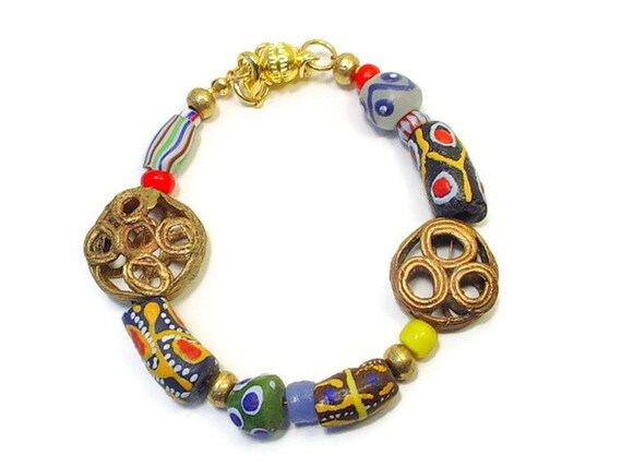 African Trade Beads Krobo recycled glass trade beads Ghana powder glass new