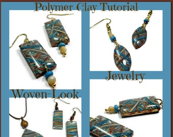 Polymer Clay  Technique Tutorial: Woven Look Jewelry Tutorial- Organic Earring Tutorial- Jewelry Making - Easy Polymer Tutorial
