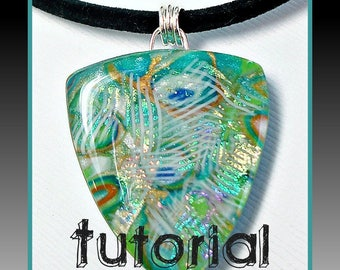 Polymer Clay Jewelry Tutorial- Polymer Clay- Faux Dichroic Tutorial- Pendant Tutorial- Jewelry Tutorials- Jewelry Making- Easy Tutorial