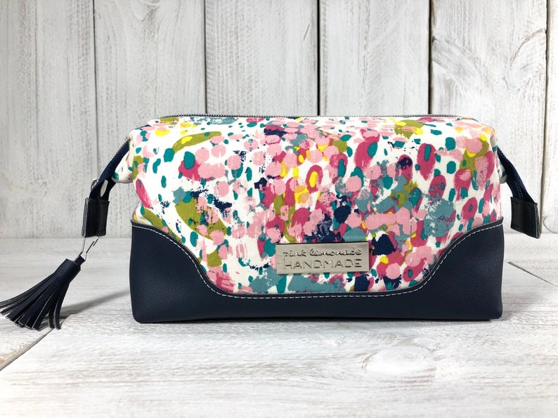 62d7ddf50347 Cosmetic Bag, Makeup Pouch, Boxy Frame Bag, Zippered Toiletry Kit, Travel  Bag, Sewing Bag, Retreat Bag, Cosmetic Storage, Paint Splatter