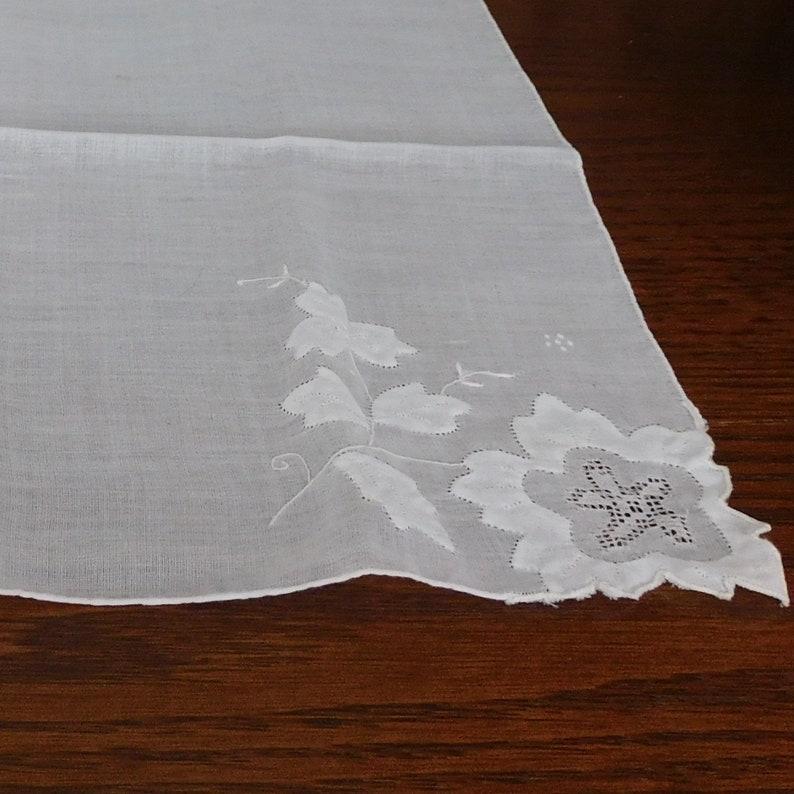 M246 Vintage Handkerchief with Pretty Applique
