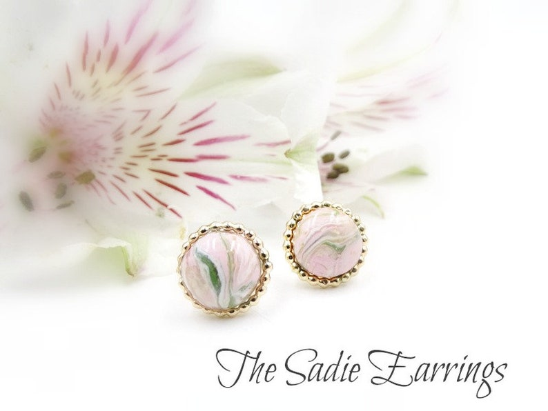 Dainty Pink Flowers Preserved In Resin