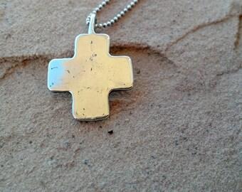 Rustic Sterling Silver Cross