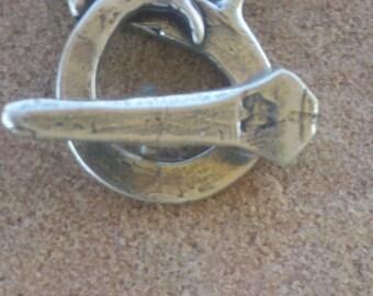 Horseshoe Nail Toggle Clasp - ROUND