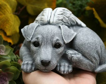 Jack Russell Terrier Dog Angel Concrete Memorial Etsy