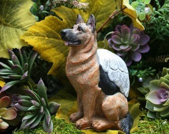 German Shepherd Angel Dog Statue   German Shepherd Statue   Concrete German  Shepherd   Alsation Statue   Shepherd Mix   Concrete Dog Angel