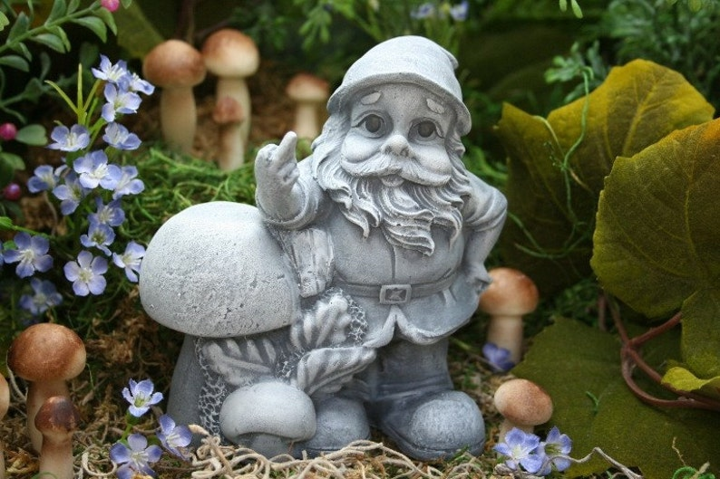 Funny Garden Gnome Giving The Finger Rude Gnomes For Sale Etsy