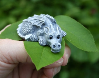 My Pet Dragon Statue -Baby Dragon Figurine Comes With His Very Own Cage