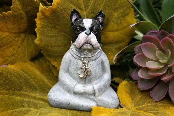 Buddha Dog Boston Terrier Miniature Meditation Statue Zen | Etsy
