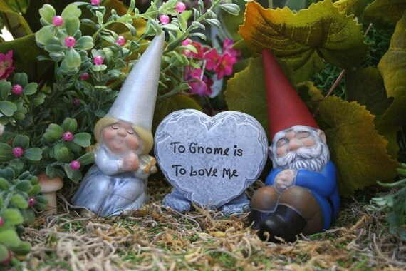 Mr And Mrs Rude Questions: Gnomes Cake Topper Customized 3 Piece Set For Wedding