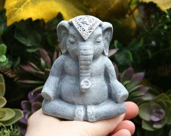 Ganesha Statue - Mini Elephant Statue - Lucky Elephant - Yoga Elephant Statue - Buddha Meditation Altar