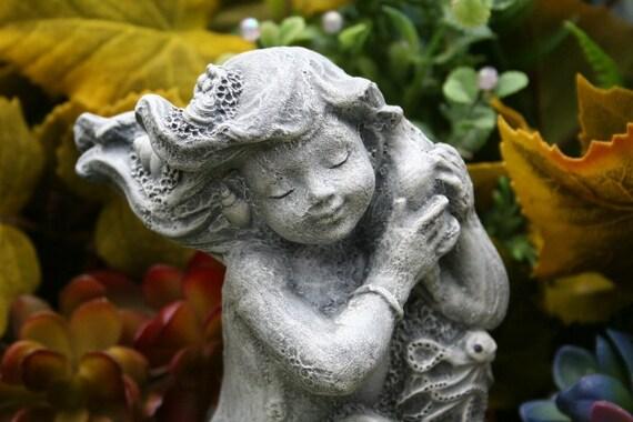 Little Mermaid Statue Merial Concrete Mermaid   Etsy