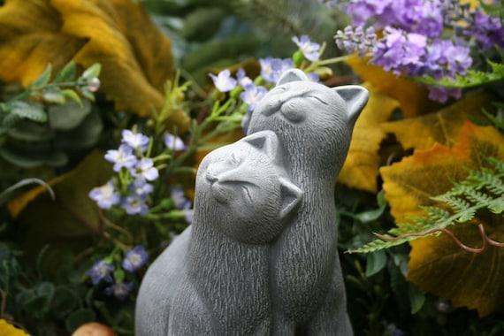 Delicieux Cat Statue Outdoor Garden Decor Concrete Cat Couple | Etsy