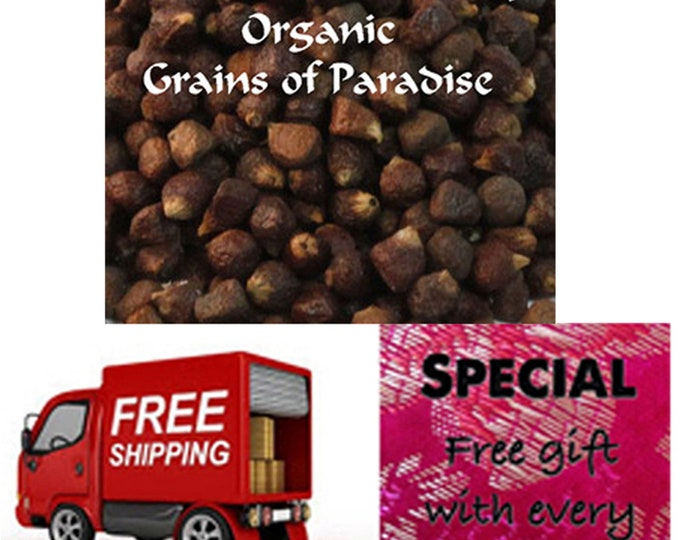 Order Grains of Paradise now, Special sale, reduced price + Free shipping + free gift!