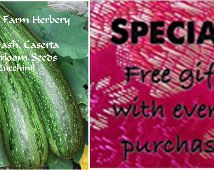 Order the best Squash Caserta Zucchini Heirloom Seeds now and get a Free gift