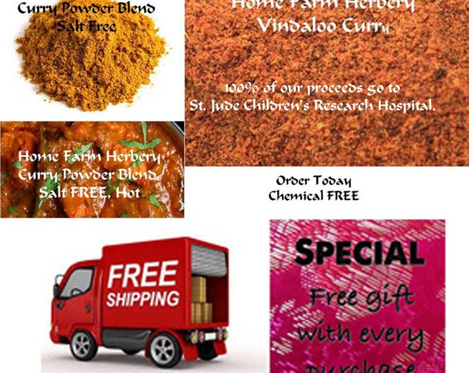 Order the best Vindaloo Curry Blend, Salt FREE, Sugar FREE now and get FREE shipping and a free gift