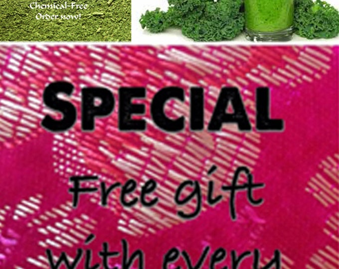 Order the best Chemical Free Kale Powder now and get a free gift