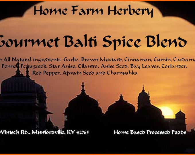 Our Gourmet Balti Spice Blend is a true Epicurean blend that has a spicy, complex and very powerful aroma and taste