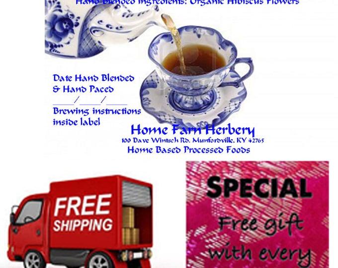Order Organic Hibiscus Rabak Herbal Tea now, FREE shipping and a FREE gift