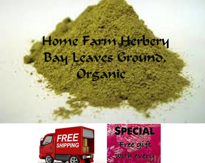 Bay Leaves Ground Organic, special sale, reduced price, a free gift, FREE shipping!