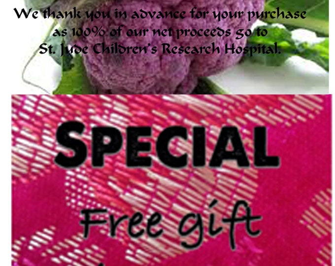 Order Cauliflower Purple Heirloom Seeds now, & get a free gift