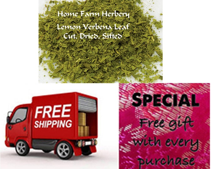 Lemon Verbena leaf, cut, dried, sifted, Order Now, special sale, reduced price, FREE shipping & a free gift.