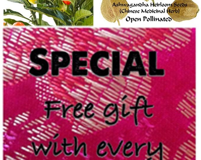 Order Ashwagandha Heirloom Seeds now & get a free gift