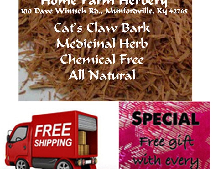 Order Cat's Claw Medicinal Bark now, Special sale, reduced price FREE shipping, and free gift!