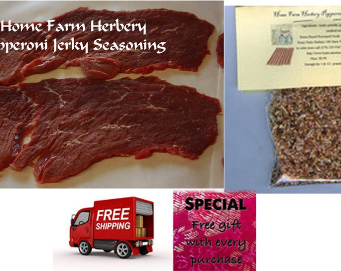 Pepperoni Jerky Seasoning  Diabetic Friendly Enough for 1 & 1/2 pounds Jerky Recipe included.
