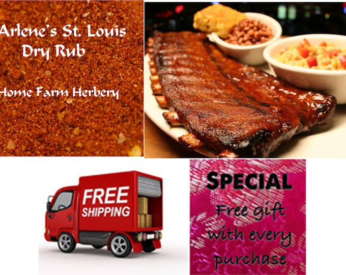 Arlene's St. Louis Rib Rub is hand blended chemical free and shipped free order now