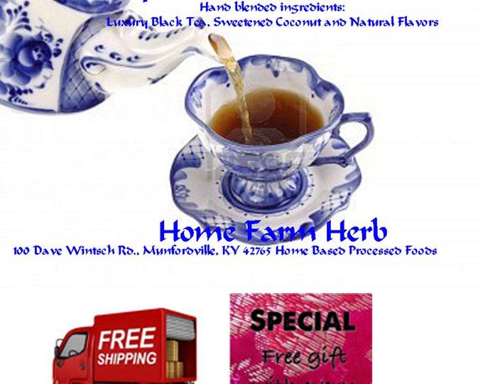 Epicurean Coconut Tea This tea is excellent hot; however it makes a fantastic iced tea. Order now