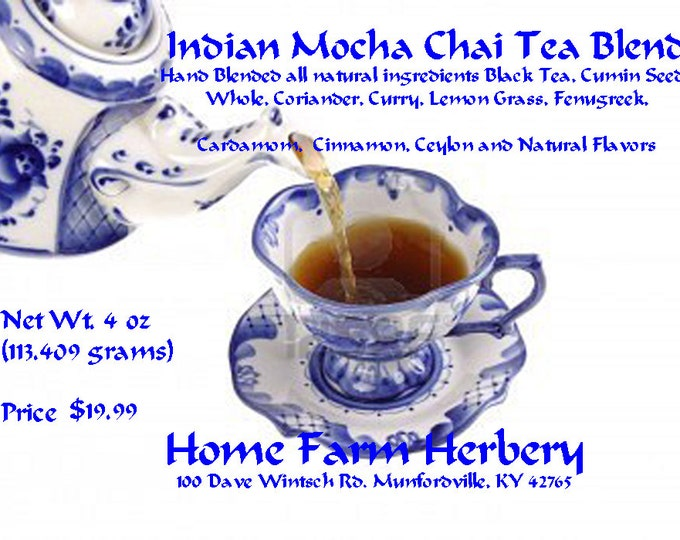 Indian Mocha Chai Tea Blend is often just simply referred to as Mocha Chai. Order today & get free shipping in USA