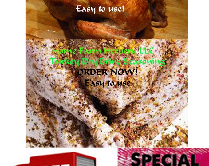 Featured listing image: Turkey Dry Brine Seasoning easy t use on poultry, pork or any kind of meat. Order now