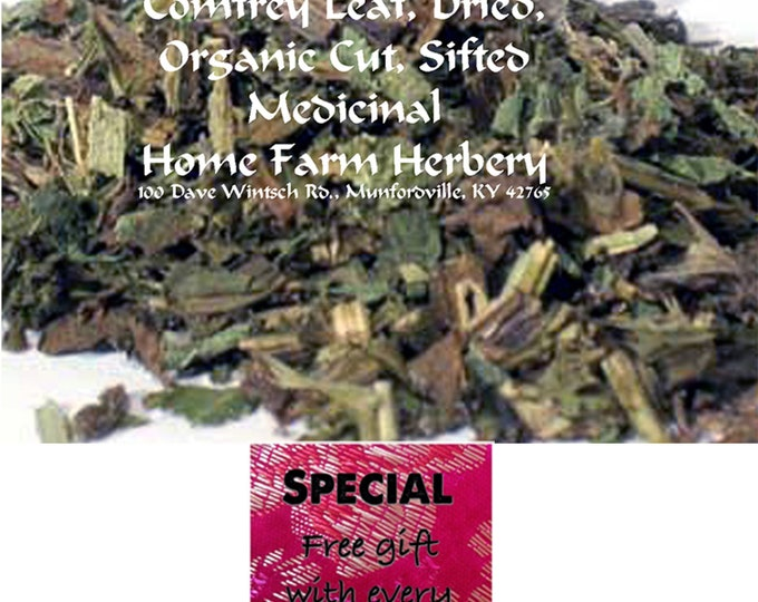 Order the best Comfrey Medicinal Herb Leaf now and get a free gift