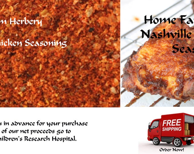 Featured listing image: Nashville Hot Chicken Seasoning, Order now, Delicious, a must have seasoning