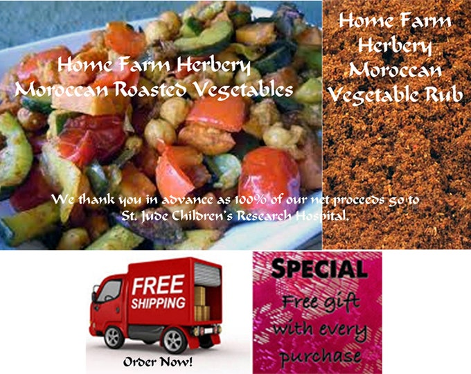 Moroccan Vegetable Rub, Order now, and be pleasantly surprised!