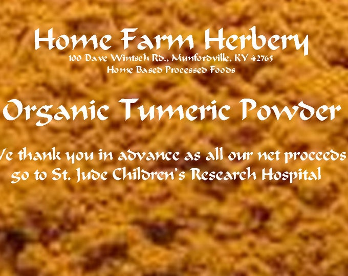 Turmeric, organic Ground Order now & you will be buying the BEST