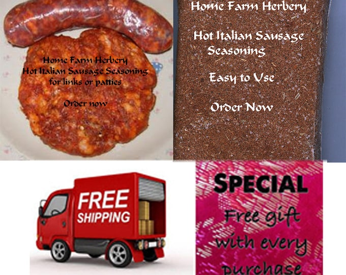 Order Hot Italian Sausage Seasoning now, special sale, reduced price, a free gift, FREE shipping!