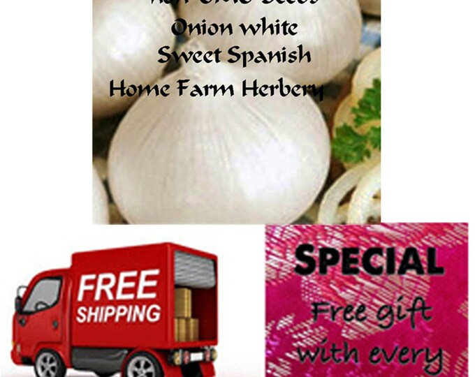 Onion white Sweet Spanish Heirloom Seeds Easy to grow