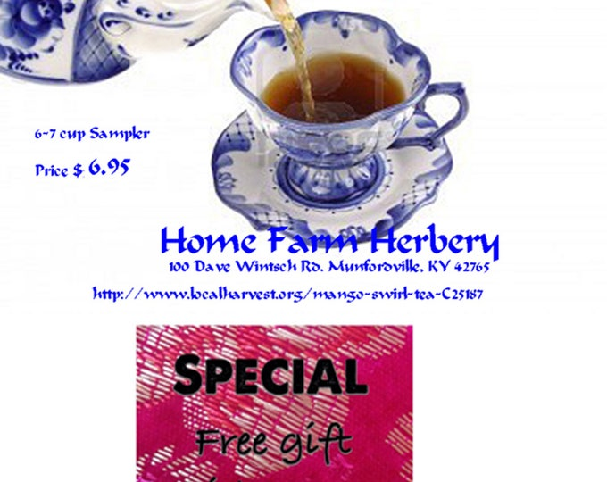 Order the best Mango Swirl Tea now and get a free gift
